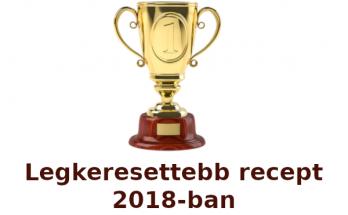 legkeresettebb recept 2018-ban