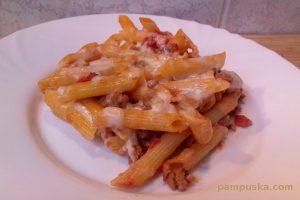 paradicsomos húsos rakott tészta